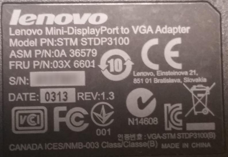 【 Surface Pro 3 】 プロジェクター接続のアダプターに安いLenovo製のが使えた!