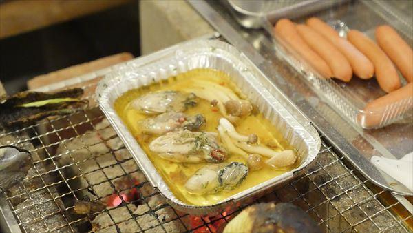 牡蠣のアヒージョもおいしかった!