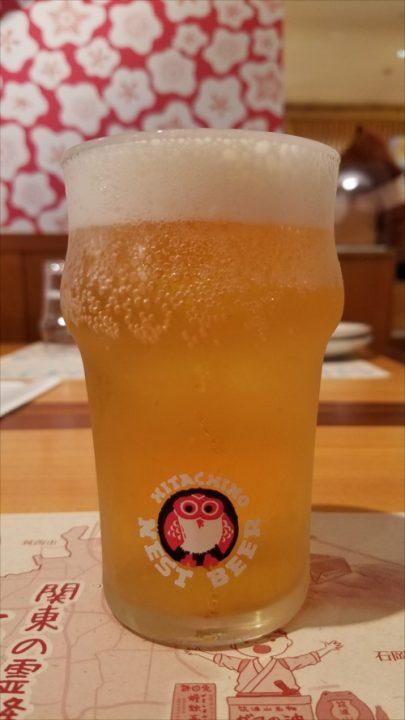 乾杯のビールは常陸野ネストビール「だいだいエール」。木内酒造さんは世界で日本のお酒を販売している素敵な酒造です。