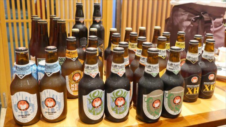 常陸野ネストビールをおかわりさせていただきました。軽いエールっぽいのも、どっしりIPAもいろいろ取りそろえてあります。地ビールうまい!
