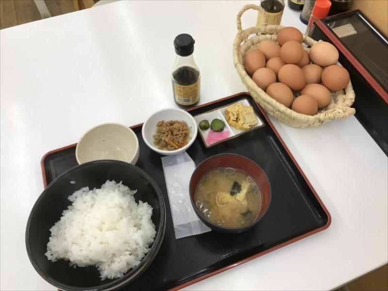 卵かけごはんの定食