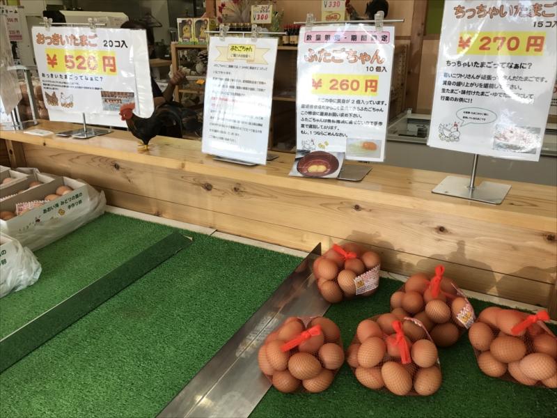 とれたての卵が売られている